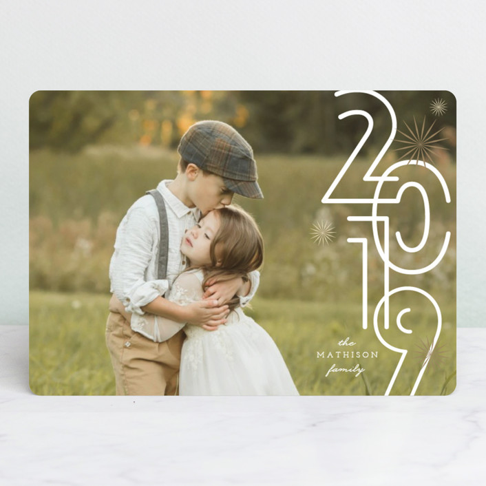"""""""A Bold New Year"""" - Modern New Year Photo Cards in Snow by fatfatin."""