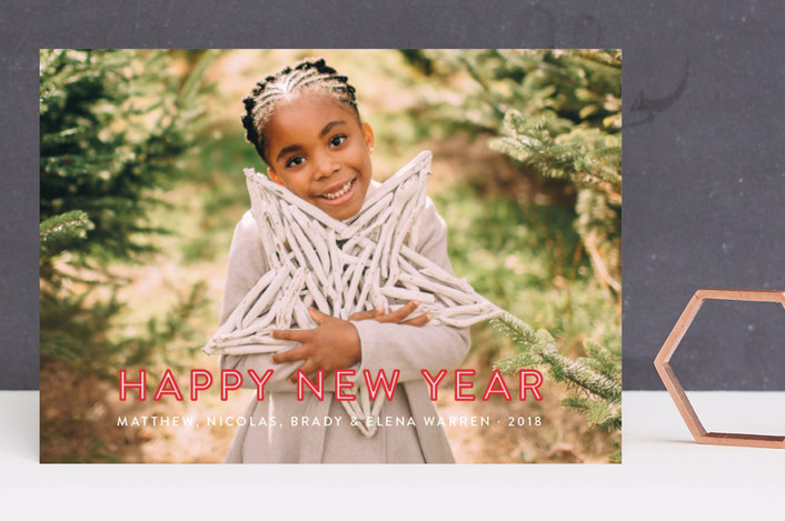 """South Congress"" - New Year Photo Cards in Berry by Toast & Laurel."