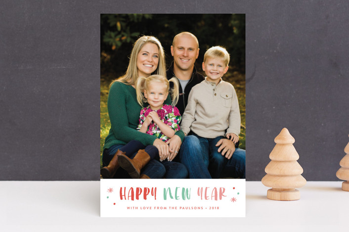 """Sorbet"" - New Year Photo Cards in Colored Lights by Carolyn MacLaren."