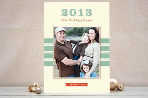 Retro New Year New Year Photo Cards