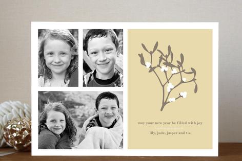 Mistletoe Wishes New Year Photo Cards