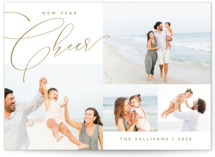 This is a brown new year photo card by Carolyn MacLaren called Elegant Year with standard printing on smooth signature in standard.