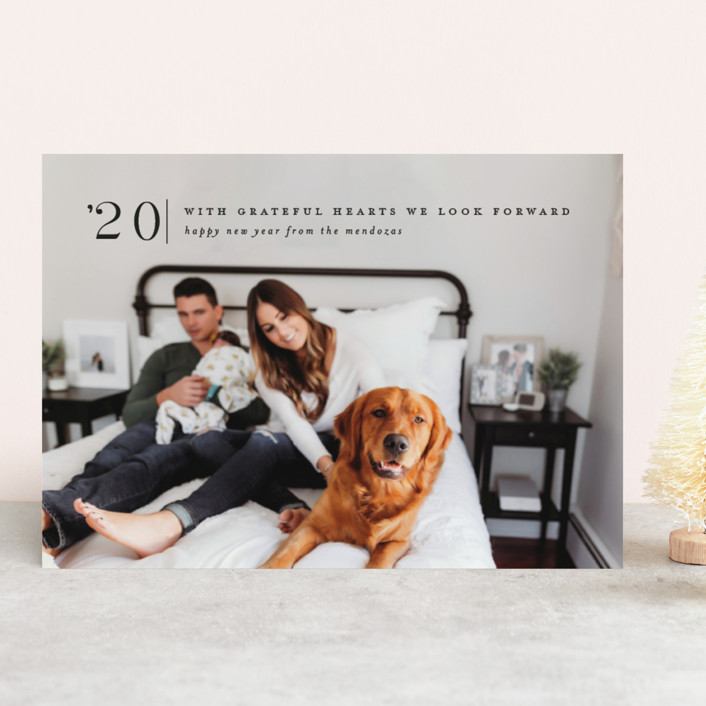"""""""Corner Mark"""" - New Year Photo Cards in Night by Amy Kross."""