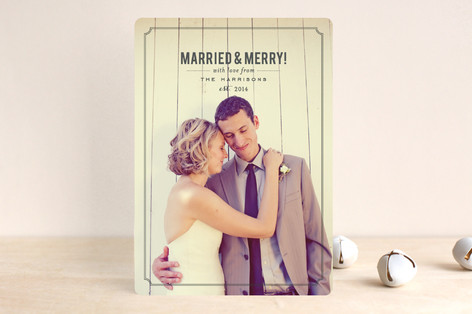 Married and Merry New Year Photo Cards