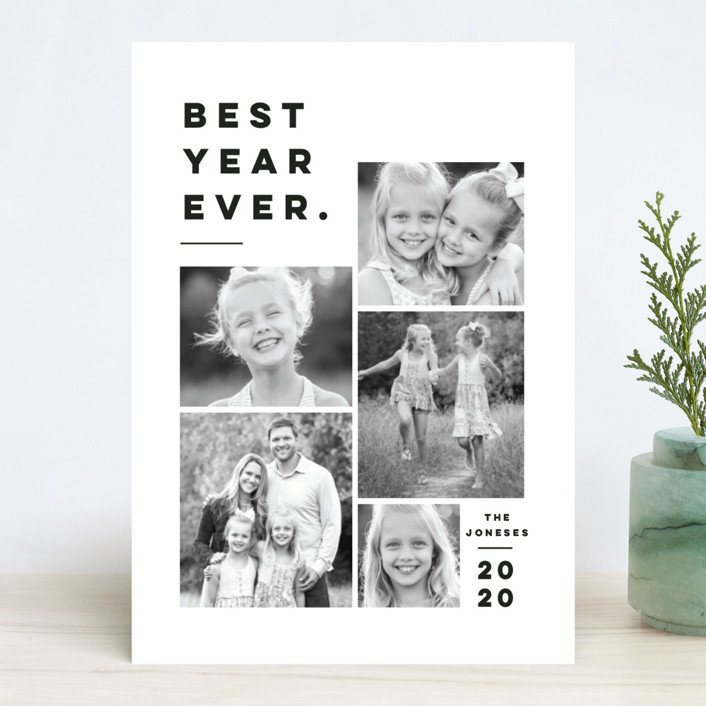 """""""Merry All Year."""" - New Year Photo Cards in Ivory by Pink House Press."""
