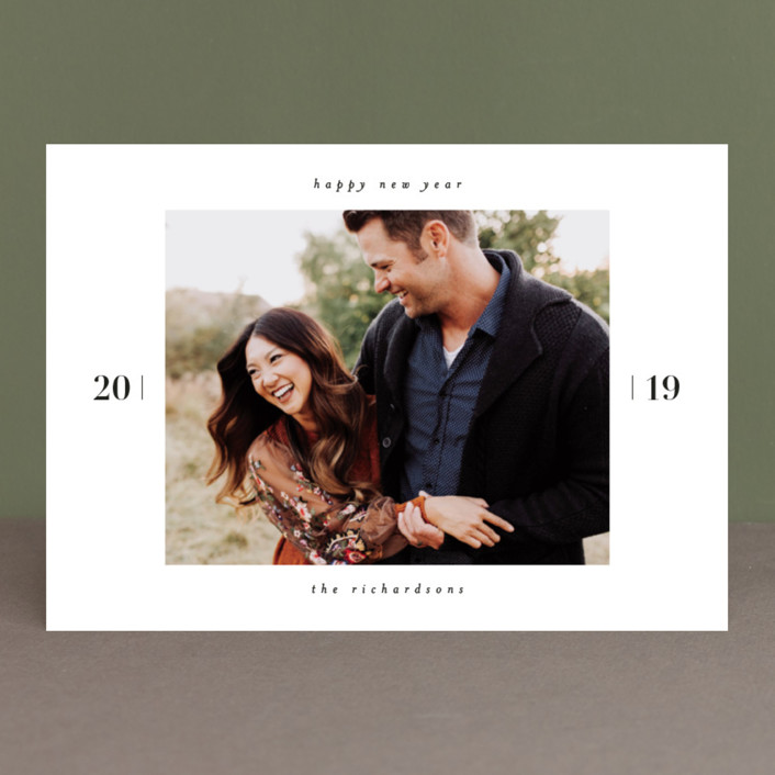 the minimalist new year photo cards in tuxedo by kelly schmidt