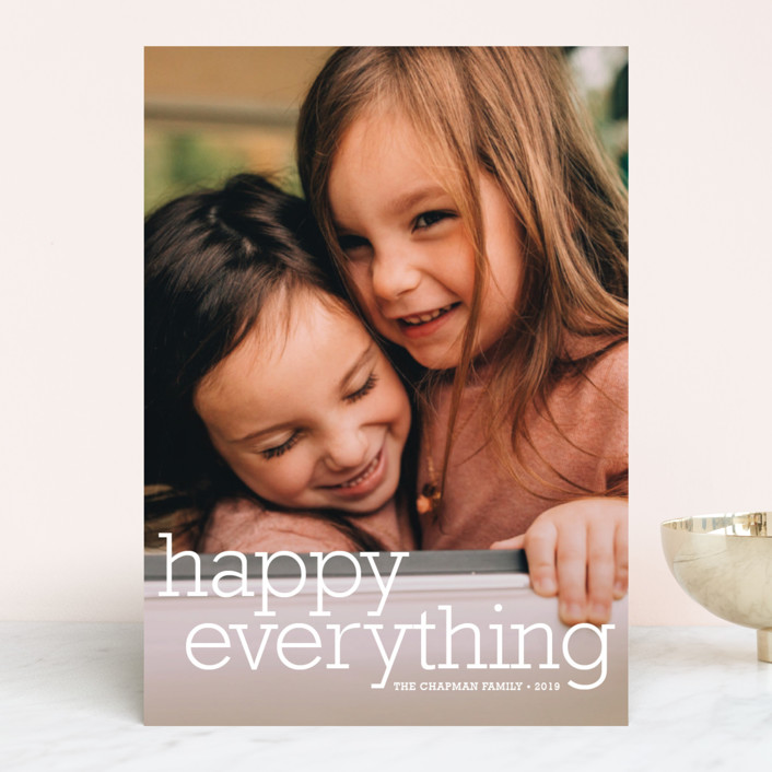 """""""Happy Everything"""" - New Year Photo Cards in Snow by annie clark."""