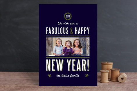 Yacht Club New Year Photo Cards