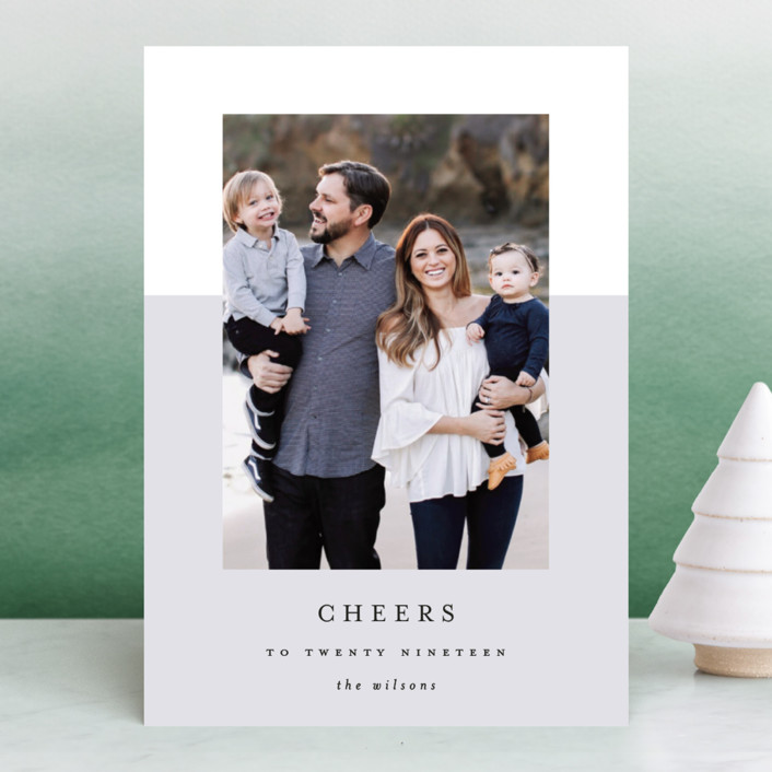 """""""yearly cheers"""" - New Year Photo Cards in Stone by Kasia Labocki."""