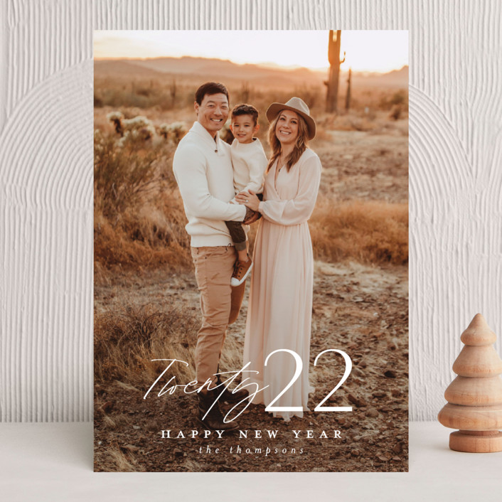 """""""Meza"""" - New Year Photo Cards in Cloud by Ashlee Townsend."""