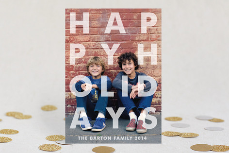 Etched New Year Photo Cards