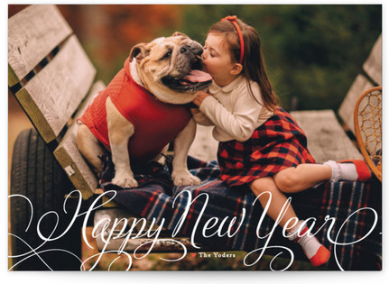 Classic Merry New Year's Photo Cards
