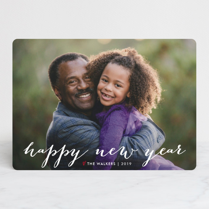 """Simple Joy"" - New Year Photo Cards in Snow by Fig and Cotton."