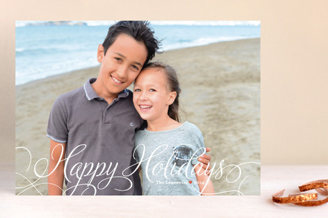 Classic Merry New Year Photo Cards