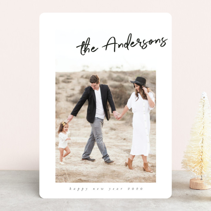 """Signature Style"" - New Year Photo Cards in Snow by Nicole Walsh."