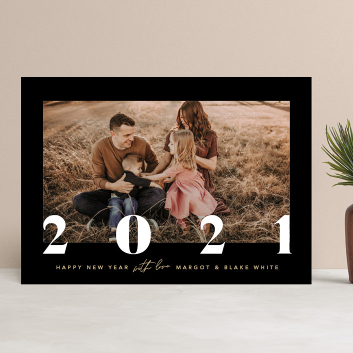 """""""Briar"""" - New Year Photo Cards in Midnight by Robert and Stella."""