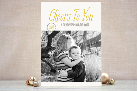 Cheers to You New Year Photo Cards