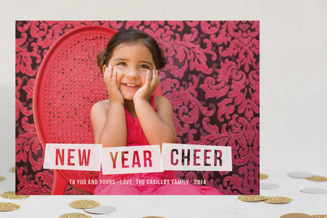 Frosted Cheer New Year Photo Cards