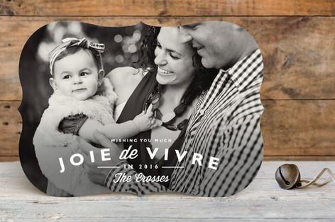 Joie de Vivre New Year Photo Cards