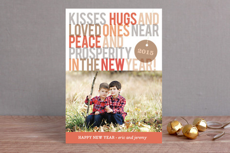 Loved Ones Near New Year Photo Cards