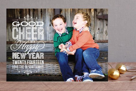 Good Cheer New Year Photo Cards