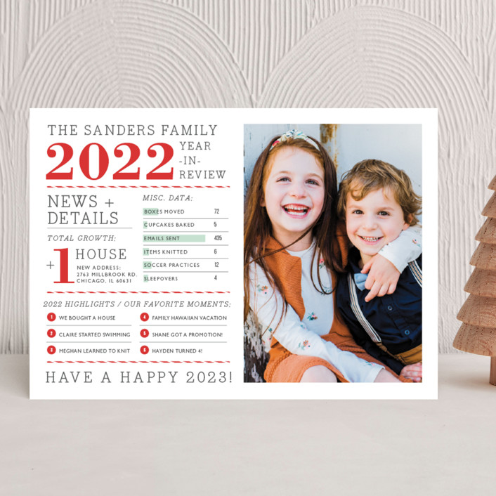 """""""Family Year in Review"""" - New Year Photo Cards in Holly by cambria."""