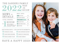 Family Year in Review New Year's Photo Cards By cambria