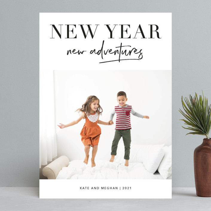 """""""Adventures Together"""" - New Year Photo Cards in Ink by Kelly Nasuta."""