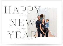 This is a black new year photo card by Leah Bisch called Bold Year with standard printing on smooth signature in standard.