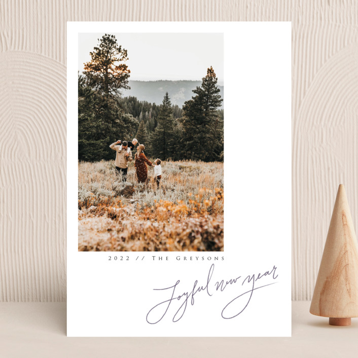 """""""In Pencil"""" - New Year Photo Cards in Tinsel by Adelyn T.."""