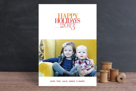 Bold Statement New Year Photo Cards