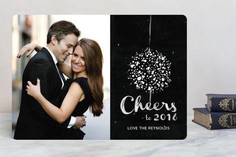 Elegant Ball Drop New Year Photo Cards
