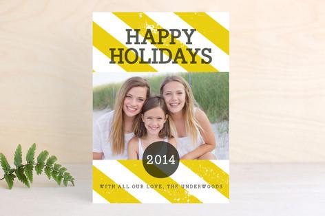 Preppy Stripe New Year Photo Cards