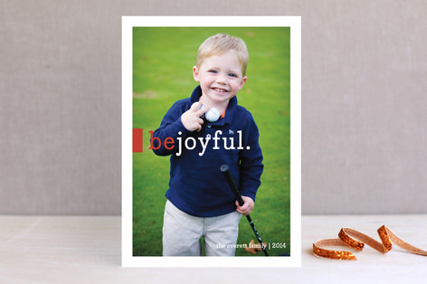 Be Joyful New Year Photo Cards