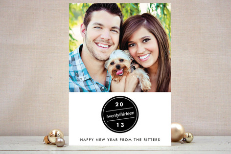 Bauble New Year Photo Cards