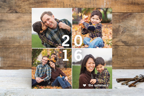New Year Tiles New Year Photo Cards