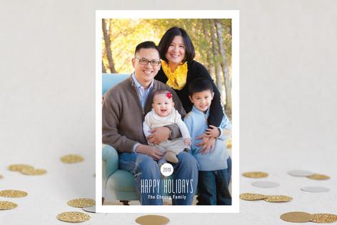 Modern Spot New Year Photo Cards
