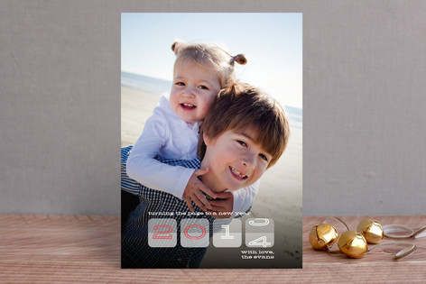 Seasons Rotation New Year Photo Cards