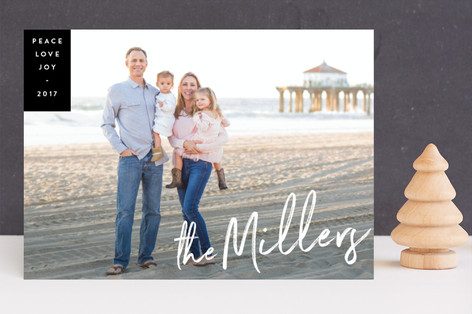 Family Signature New Year Photo Cards