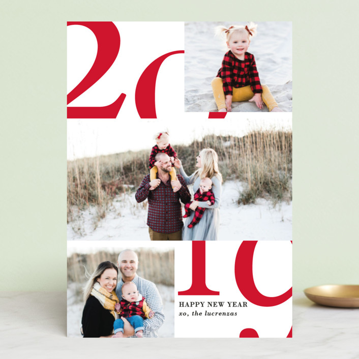 """A Big Happy Year"" - New Year Photo Cards in Highlight by Kaydi Bishop."