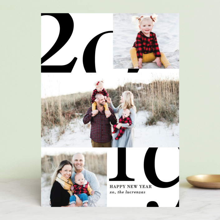 """""""A Big Happy Year"""" - New Year Photo Cards in Cardinal by Kaydi Bishop."""