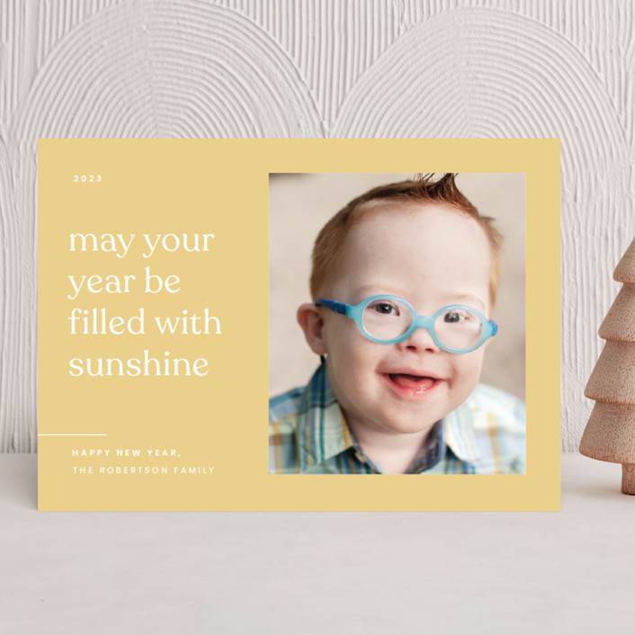 """""""Sunshine"""" - New Year Photo Cards in Sunlight by Blustery August."""