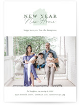 This is a green new year photo card by Alexandra Cohn called New Year New Home with standard printing on pearlescent in standard.
