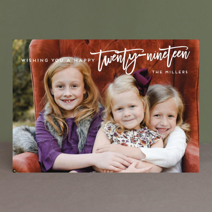 """Modern Twenty-Eighteen"" - New Year Photo Cards in Snow by Ashlee Townsend."