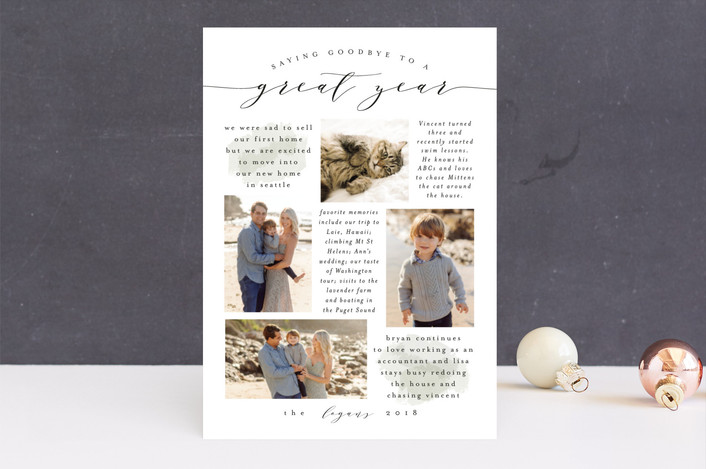 """Goodbye to a Great Year"" - New Year Photo Cards in Seaside by Amy Payne."