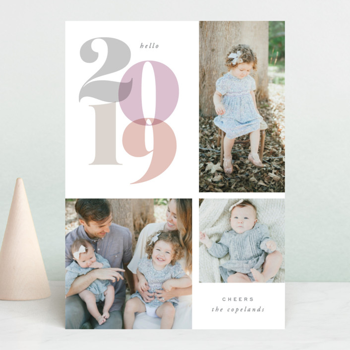 """In Vogue"" - New Year Photo Cards in Rose by Hooray Creative."