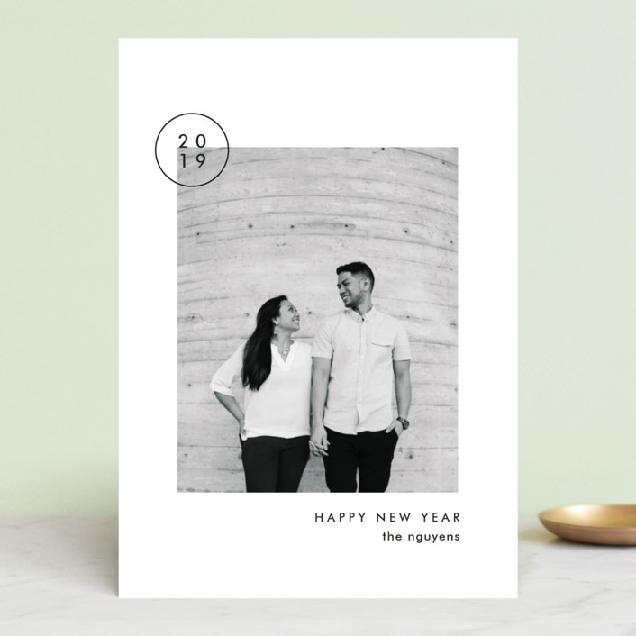 """""""Simply"""" - New Year Photo Cards in Aspen by Amy Kross."""