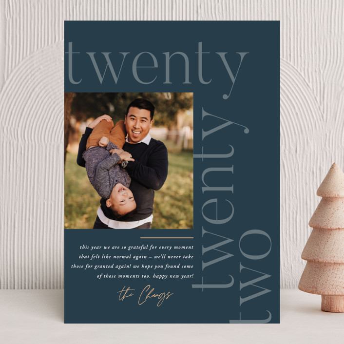 """""""Modern Letter"""" - New Year Photo Cards in Lake by Robert and Stella."""
