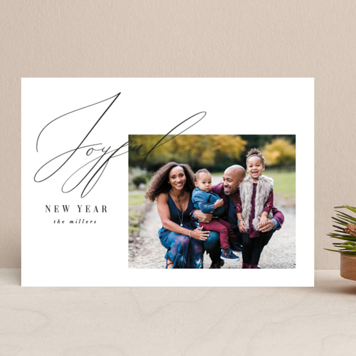 """New Year Elegance"" - New Year Photo Cards in Snow by Nicoletta Savod."
