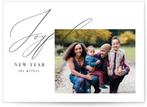 This is a colorful new year photo card by Nicoletta Savod called New Year Elegance with standard printing on signature in standard.